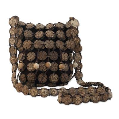 Coconut shell shoulder bag (Medium)