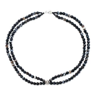 Unique Beaded Onyx Necklace