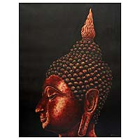 'Buddha of the Sukhothai Period' (2004) - Thai Spiritual Buddhism Painting (2004)