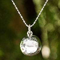 Sterling silver pendant necklace, 'On the Ball' - Sterling Silver Pendant Necklace