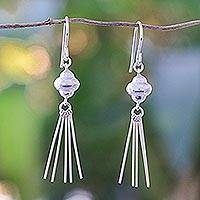 Sterling silver dangle earrings, 'Rain Shower' (Thailand)