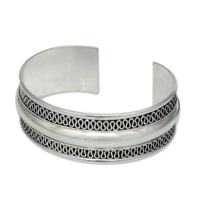 Hand Crafted Thai Sterling Silver Cuff Bracelet