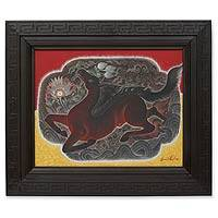 'The Horse' (2005) - Framed Expressionist Painting