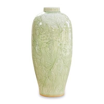 Hand Made Celadon Ceramic Vase