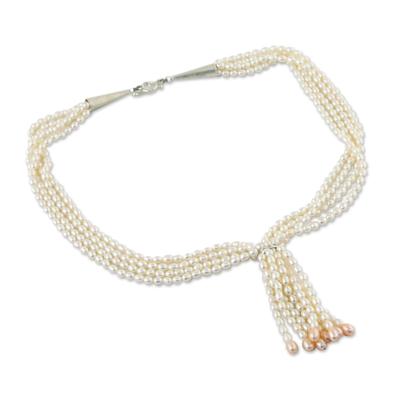 Cultured Pearl Multi Strand Necklace