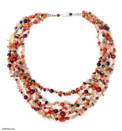 Beaded Carnelian Necklace