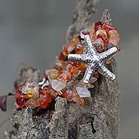 Chalcedony pendant bracelet,