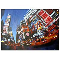 'Time of Major Cities III' (2010) - Modern Acrylic Painting