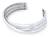 Sterling silver cuff bracelet, 'Trio' - Sterling Silver Cuff Bracelet (image 2a) thumbail
