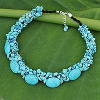 Beaded necklace, 'Gush' - Fair Trade Beaded Necklace