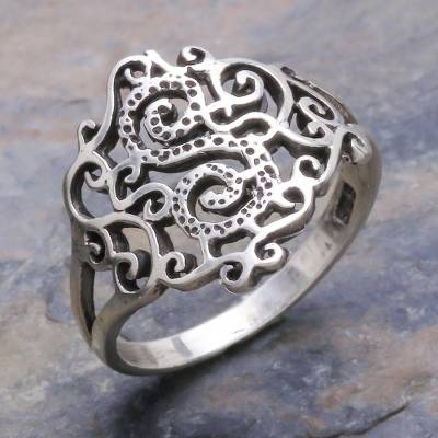 sterling silver short necklace men - Sterling Silver Band Ring