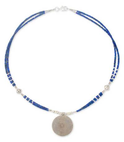 Fine Silver and Lapis Lazuli Necklace
