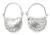 Silver half hoop earrings, 'Ladybug Charm' - Silver half hoop earrings (image 2a) thumbail