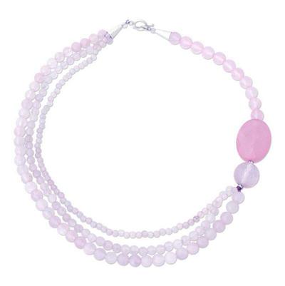 Beaded Rose Quartz Necklace