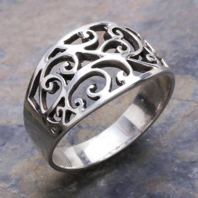 silver ring id skyrim mods - Unique Sterling Silver Band Ring from Thailand