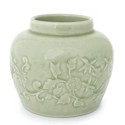 Handcrafted Celadon Ceramic Vase