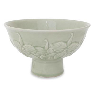 Celadon ceramic bowl