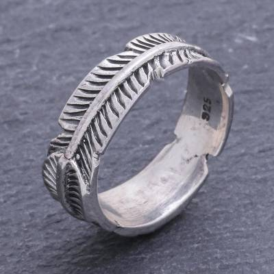 l necklace silver - Unique Thai Sterling Silver Band Ring