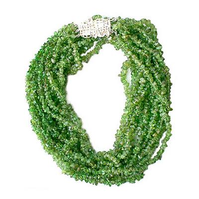 Peridot torsade necklace