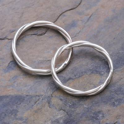 size 4 silver rings - Sterling Silver Stacking Rings (Pair)