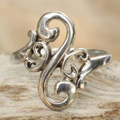 Sterling silver cocktail ring, Arabesque Curl