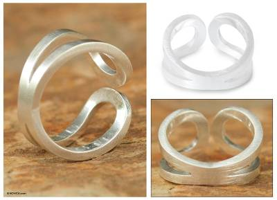 two toned costume jewelry rings - Sterling Silver Ring