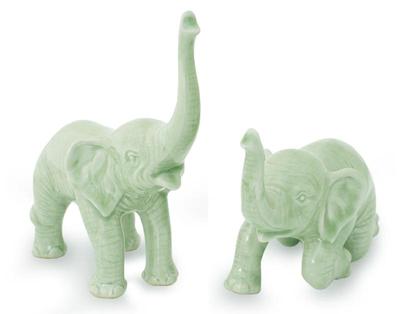 Celadon Ceramic Sculptures from Thailand