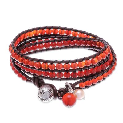Artisan Crafted Carnelian Wrap Bracelet