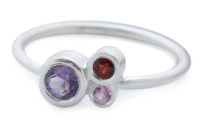 Amethyst and sapphire cocktail ring