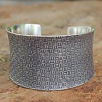 Sterling silver cuff bracelet, 'Northern Inspiration' - Sterling Silver Cuff Bracelet
