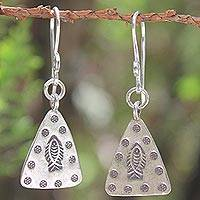 Sterling silver dangle earrings, 'Tribal Riches' - Sterling silver dangle earrings
