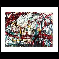 'Movement of Line and Color II' - Thai Expressionist Print