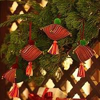 Hemp and cotton ornaments,