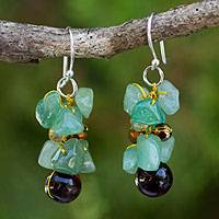 Tiger's eye cluster earrings, 'Chiang Mai Melody'
