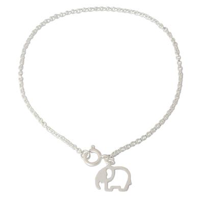 Unique Sterling Silver Elephant Charm Bracelet