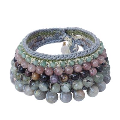 Unique Labradorite Beaded Bracelet