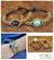 Beaded wristband bracelets, 'Planet Autumn' (pair) - Brass Beaded Bracelets (Pair) thumbail