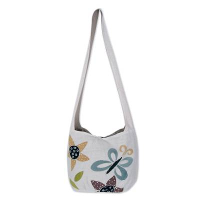Handcrafted Floral Cotton Shoulder Bag