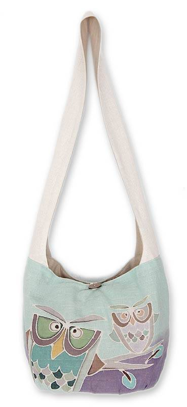 Cotton Sling Handbag from Thailand