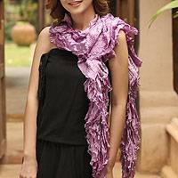 Thai scarf, 'Daring Purple' - Thai scarf