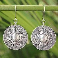Sterling silver dangle earrings, 'Summer Leaves' - Floral Sterling Silver Dangle Earrings
