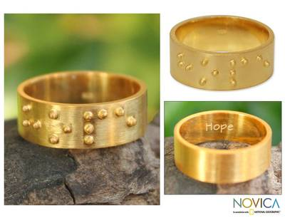 Gold plated band ring