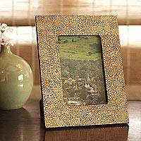 Eggshell mosaic picture frame, Pathways (4x6)