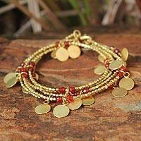 Gold plated wrap bracelet,