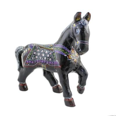 Handcrafted Lacquered Wood Figurine