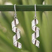 Sterling silver dangle earrings, 'Mae Ping Breeze' - Artisan Crafted Sterling Silver Dangle Earrings