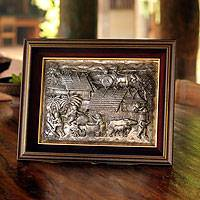 Aluminum repousse panel Lanna Countryside Thailand