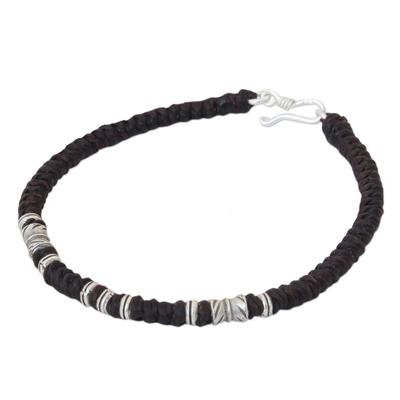 Handmade Fine Silver Braided Bracelet from Thailand