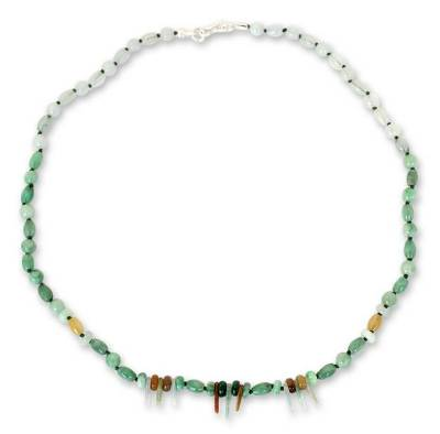 Handcrafted Thai Beaded Jade Necklace