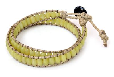 Jasper Beaded Wrap Bracelet
